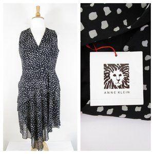 Anne Klein Plus Size Black White Asymmetrical Dres